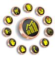bronze web icon set vector image vector image