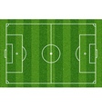 Football field Top view vector image