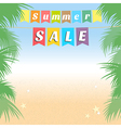 Summer holiday sales background banner vector image