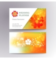 blurred business card template with logo vector image