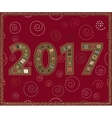 Happy New Year 2017 handmade vector image