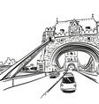 London bridge drawing vector image