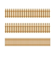 Set of wooden fences vector image