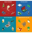 Drugs Addiction Concept Icons Set vector image