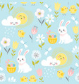 pastel easter pattern vector image