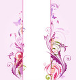 abstract vertical floral banner vector image
