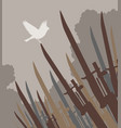 bayonet bird vector image