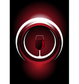 Wine icon with a metallic shine vector image vector image
