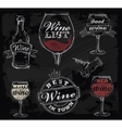 chalk wine vector image