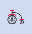 antique highwheel bike 1885 vector image