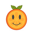 emoji - orange with happy smile isolated vector image