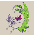 Butterfly with Floral3 vector image