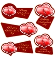 sale sticker with hearts vector image vector image