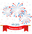 4th of July American Independence Day celebration vector image