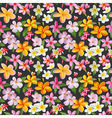 Tropical Flowers Background vector image