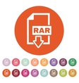 The RAR file icon Archive and compressed symbol vector image