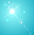 abstract star with lenses flare - vector image