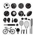 Sport Equipment Silhouette vector image