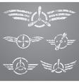 Airforce emblem set vector image