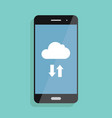 cloud storage cloud icon on smartphone screen vector image
