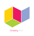 company name background vector image