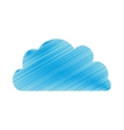 drawing blue cloud technology symbol vector image