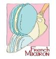 French Macaron vector image
