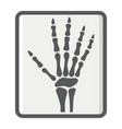 hand x-ray filled outline icon medicine vector image