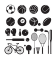 Sport Equipment Silhouette vector image