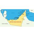United Arab Emirates - map vector image