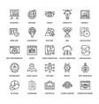 web design icons 1 vector image