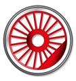 wheel of steam locomotive vector image