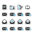 Email mailbox icons set as labels vector image vector image