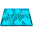 human abstract hands vector image vector image