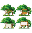four frame templates on big trees vector image