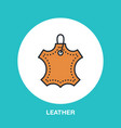 leather material line logo flat sign for clothes vector image
