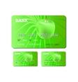 credit or debit green card vector image