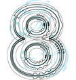 Font NUMBER 8 vector image vector image