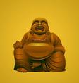 laughing buddha vector image