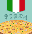Tray of Italian pizza vector image vector image
