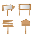 Wood Placard Plank Sign Boards vector image
