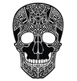 Tattoo skull vector image