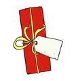 Comic cartoon christmas present vector image