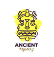 ethnic tribal yellow color mask with text vector image