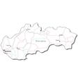 Slovakia Black White Map vector image vector image