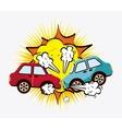 crash cars vector image