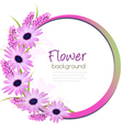 Flower background with beautiful purple flowers vector image
