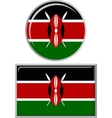 Kenyan round and square icon flag vector image