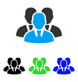 manager group flat icon vector image