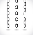 Set of chains vector image